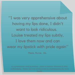 Lip filler testimonial the skin nurse