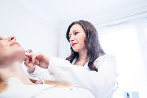 The skin nurse injecting profhilo for skin rejuvenation Teddington